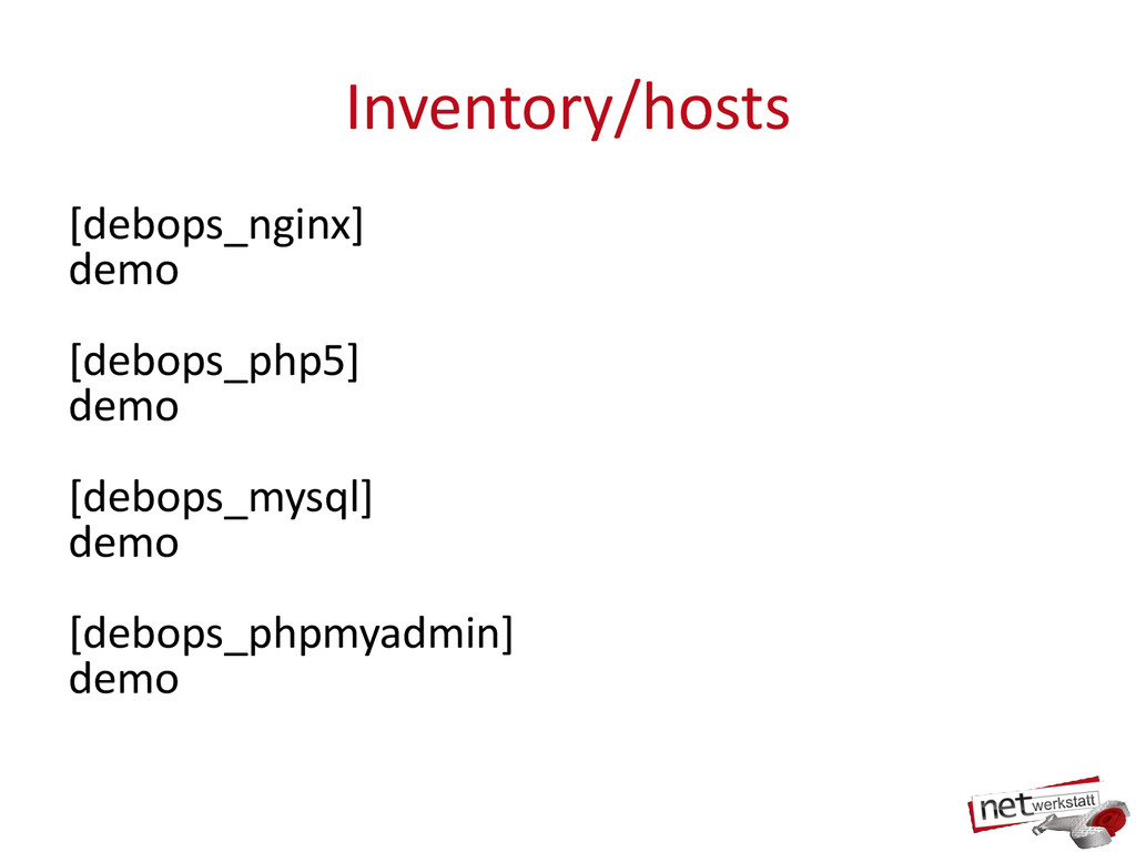Inventory/hosts [debops_nginx] demo [debops_php...