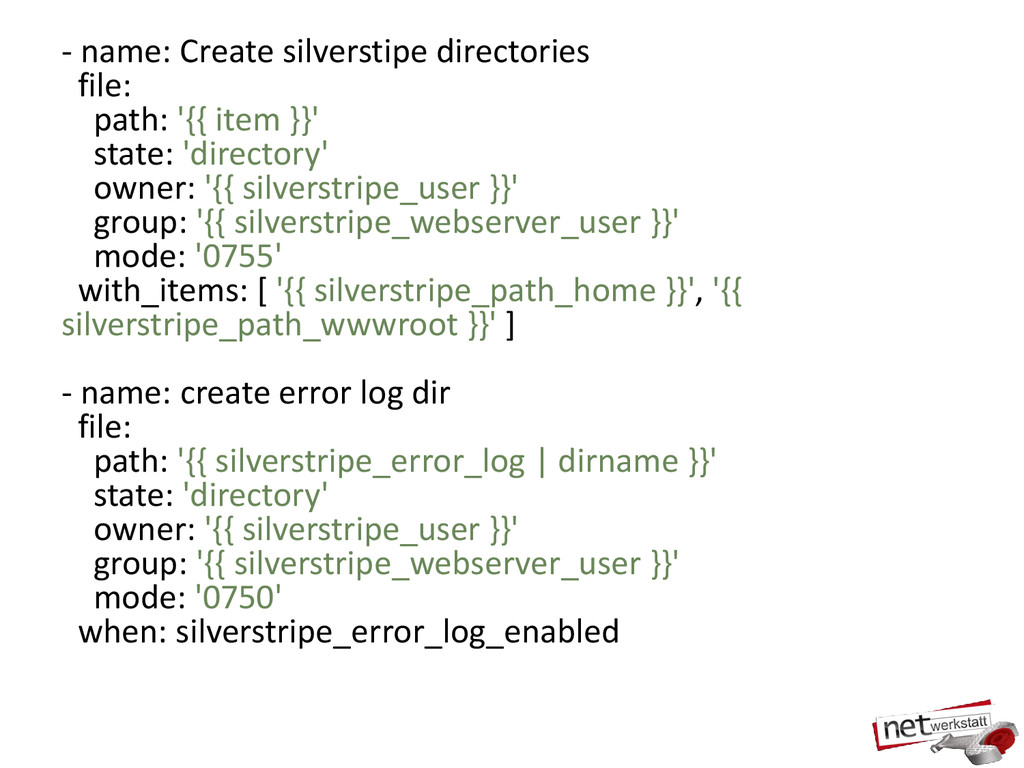 - name: Create silverstipe directories file: pa...