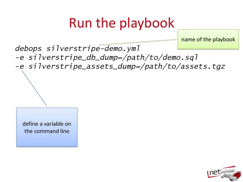 Run the playbook debops silverstripe-demo.yml -...