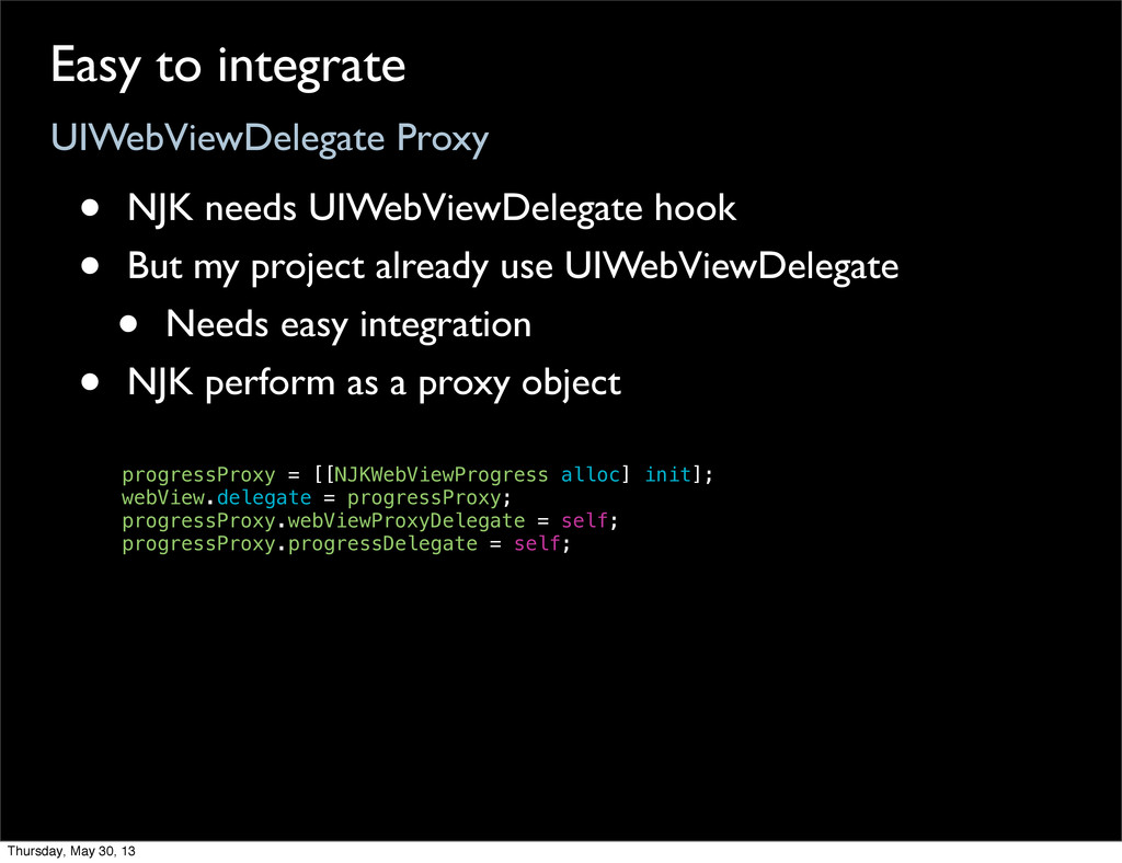 UIWebViewDelegate Proxy Easy to integrate • NJK...