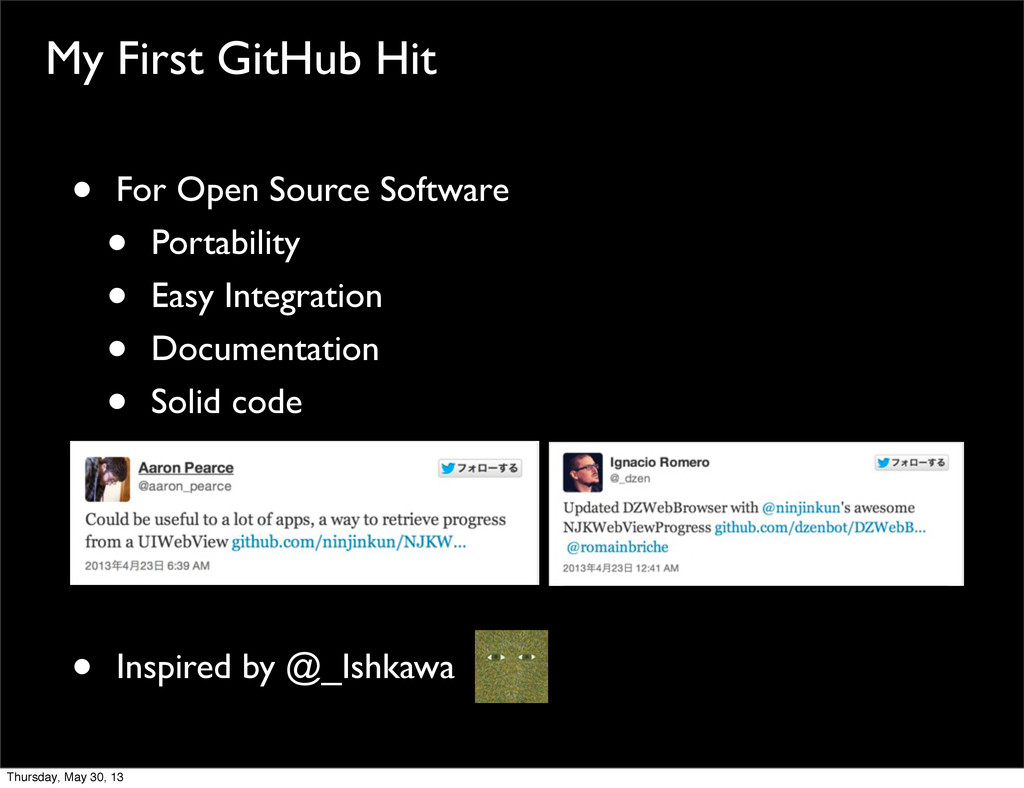 My First GitHub Hit • For Open Source Software ...