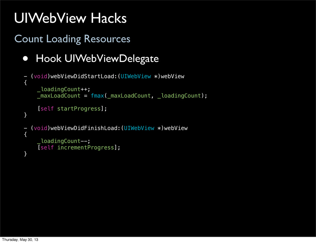 Count Loading Resources UIWebView Hacks • Hook ...