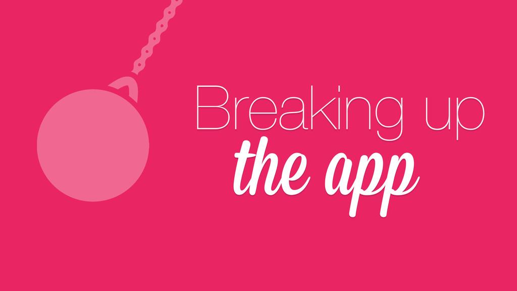 the app Breaking up