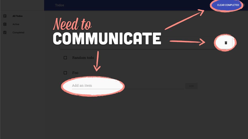 communicate Need to