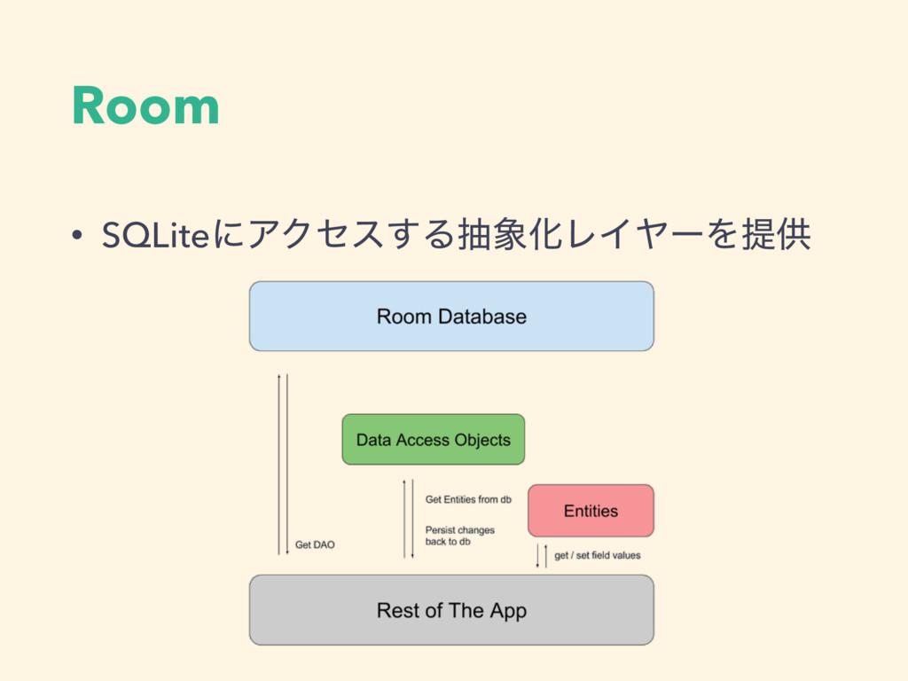 Room • SQLiteʹΞΫηε͢ΔநԽϨΠϠʔΛఏڙ
