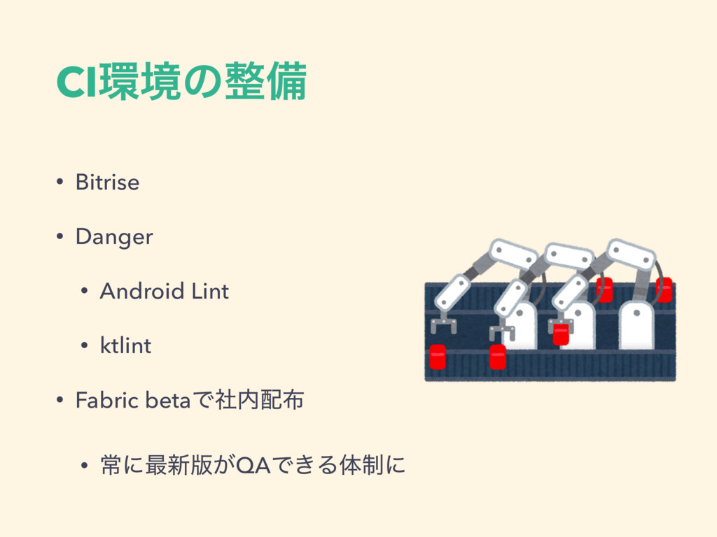 CIڥͷඋ • Bitrise • Danger • Android Lint • ktl...