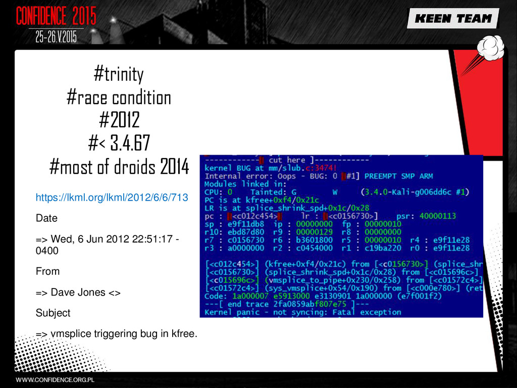 #trinity #race condition #2012 #< 3.4.67 #most ...
