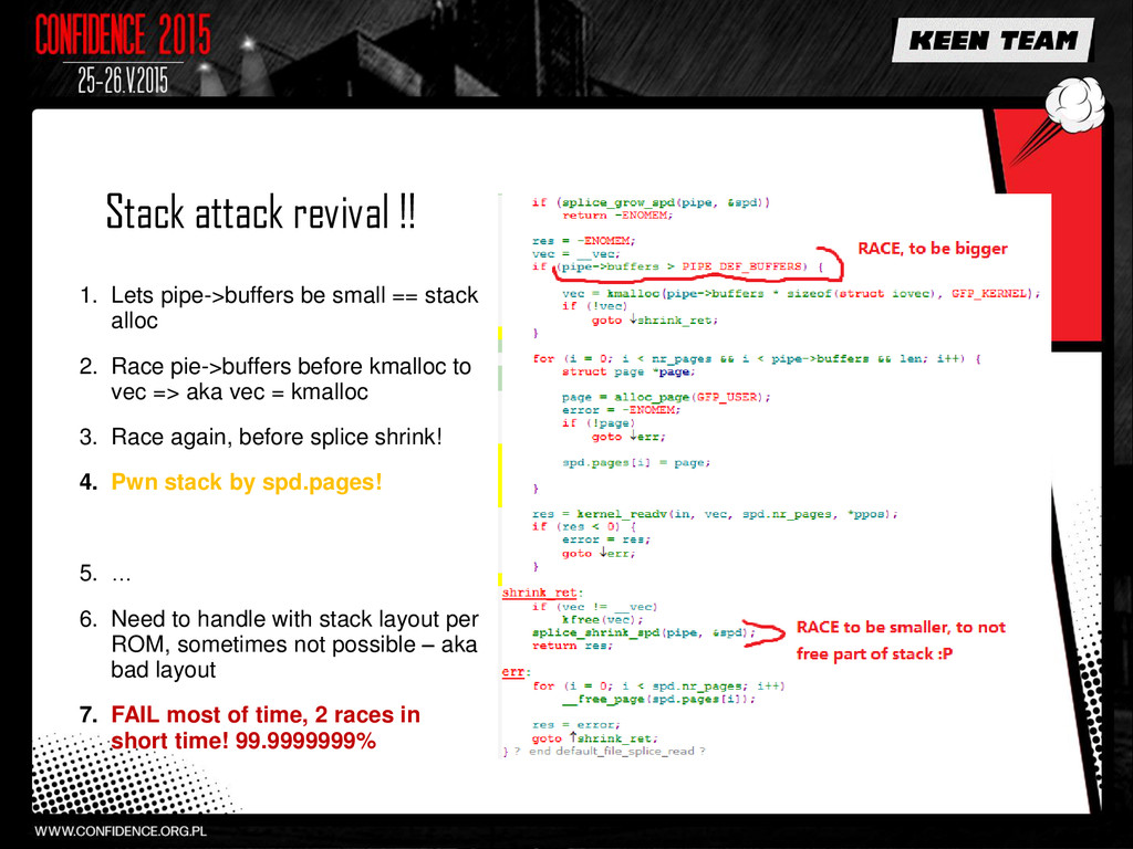Stack attack revival !! 1. Lets pipe->buffers b...