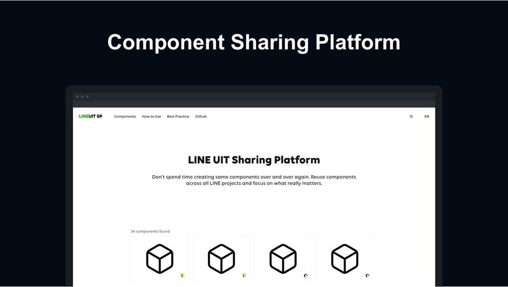 Component Sharing Platform