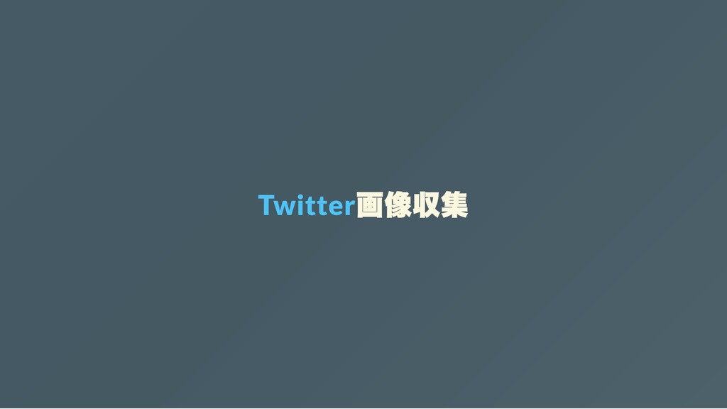 Twitter 画像収集