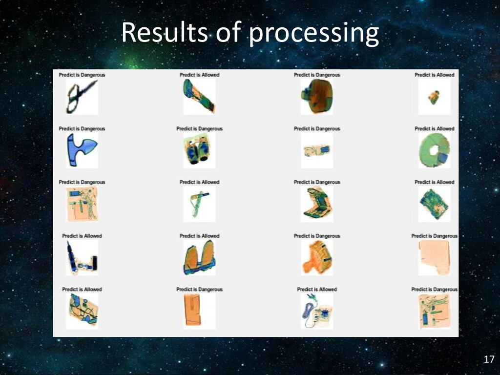 17 Results of processing