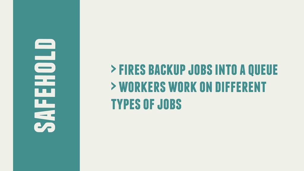 safehold > fires backup jobs into a queue > wor...