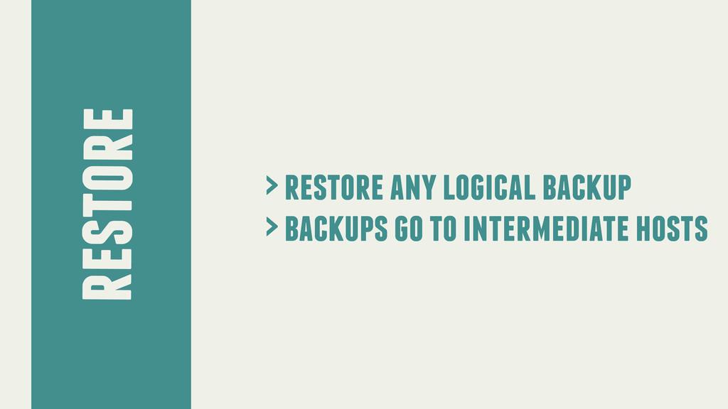 restore > restore any logical backup > backups ...