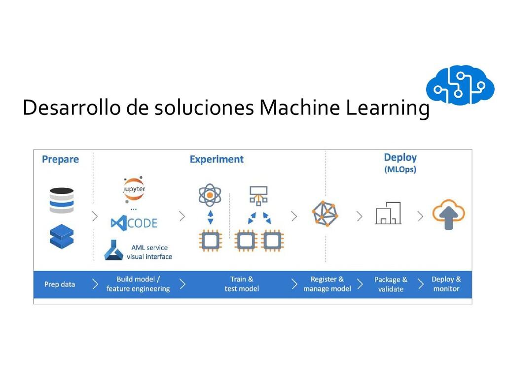 Desarrollo de soluciones Machine Learning