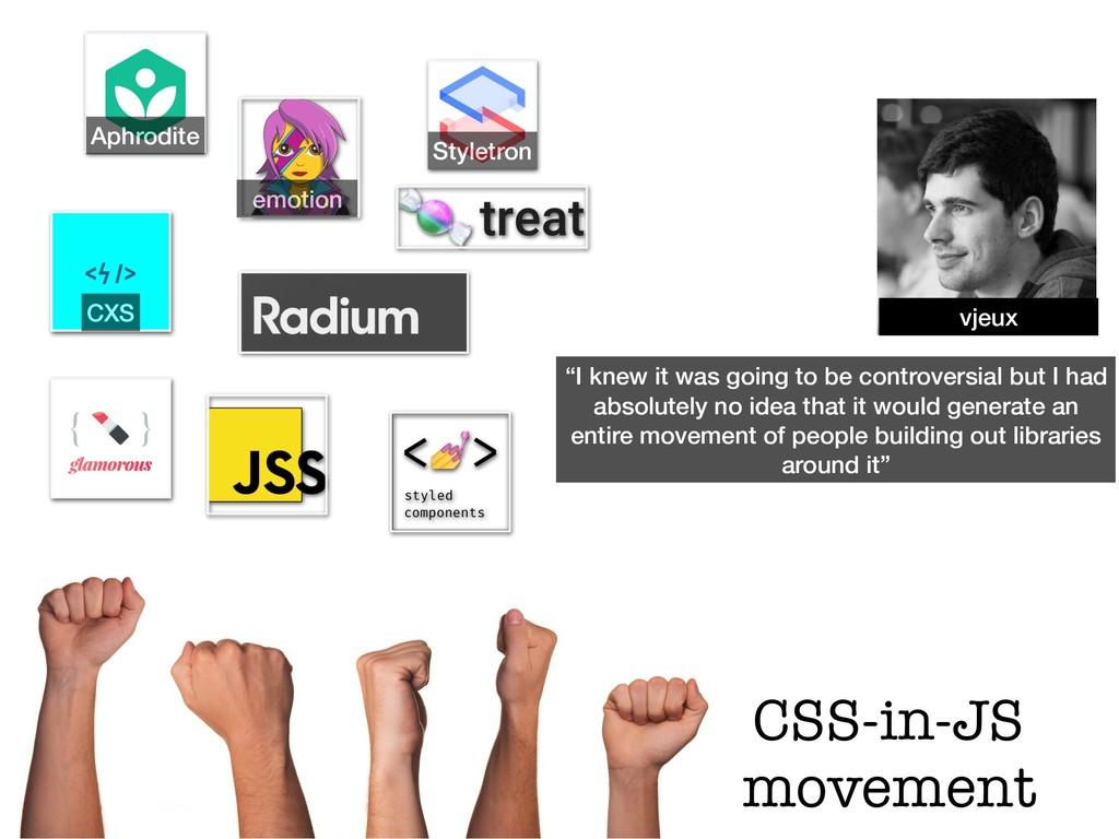 Aphrodite Styletron CXS emotion CSS-in-JS movem...