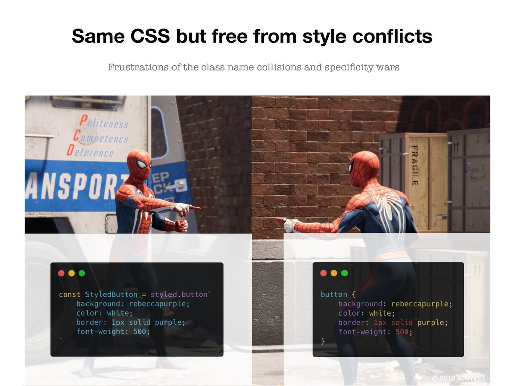 Same CSS but free from style conflicts Frustrati...