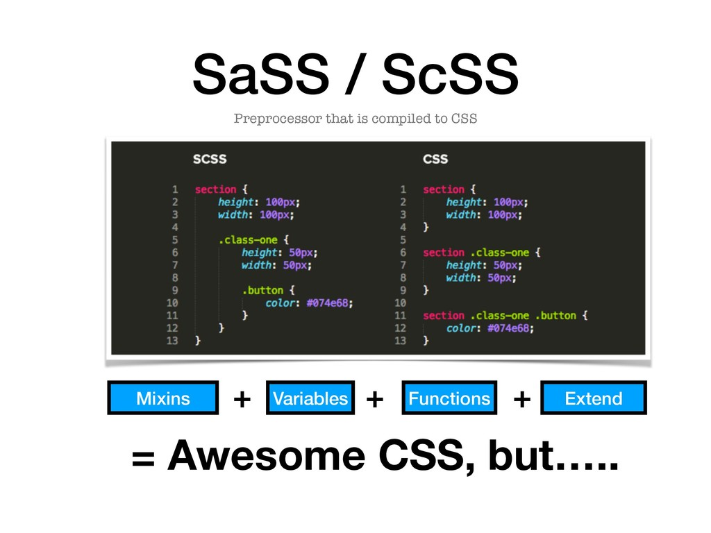 SaSS / ScSS Preprocessor that is compiled to CS...