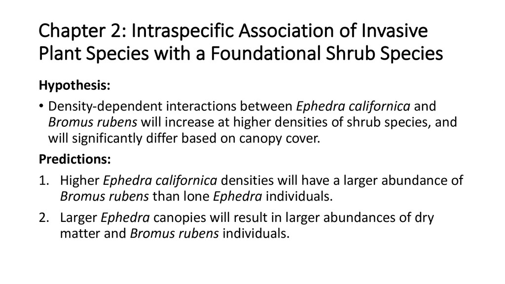 Chapter 2: Intraspecific Association of Invasiv...
