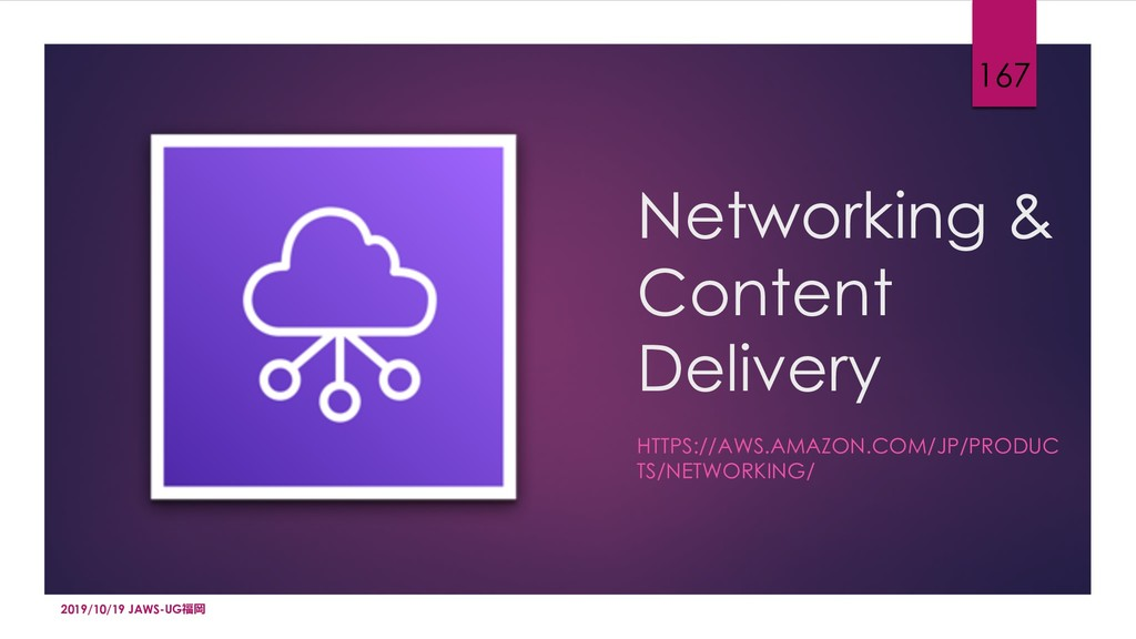 Networking & Content Delivery HTTPS://AWS.AMAZO...