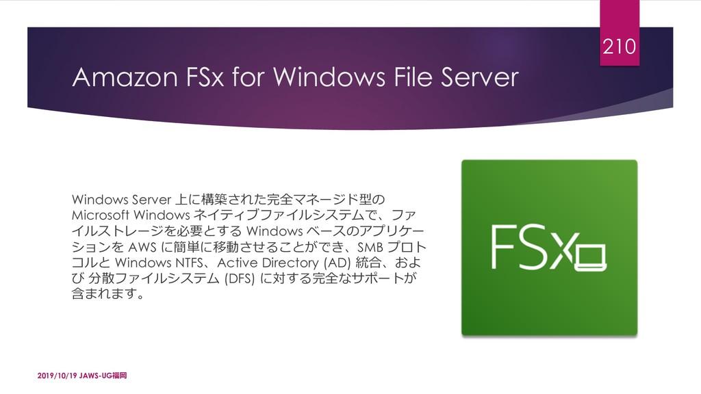 Amazon FSx for Windows File Server Windows Serv...