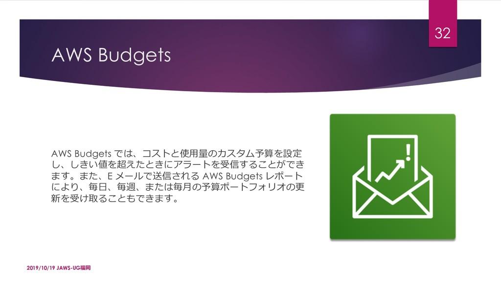 AWS Budgets AWS Budgets -4^dq.ŚÛǣ3VdjˆĤūKü¼ ...