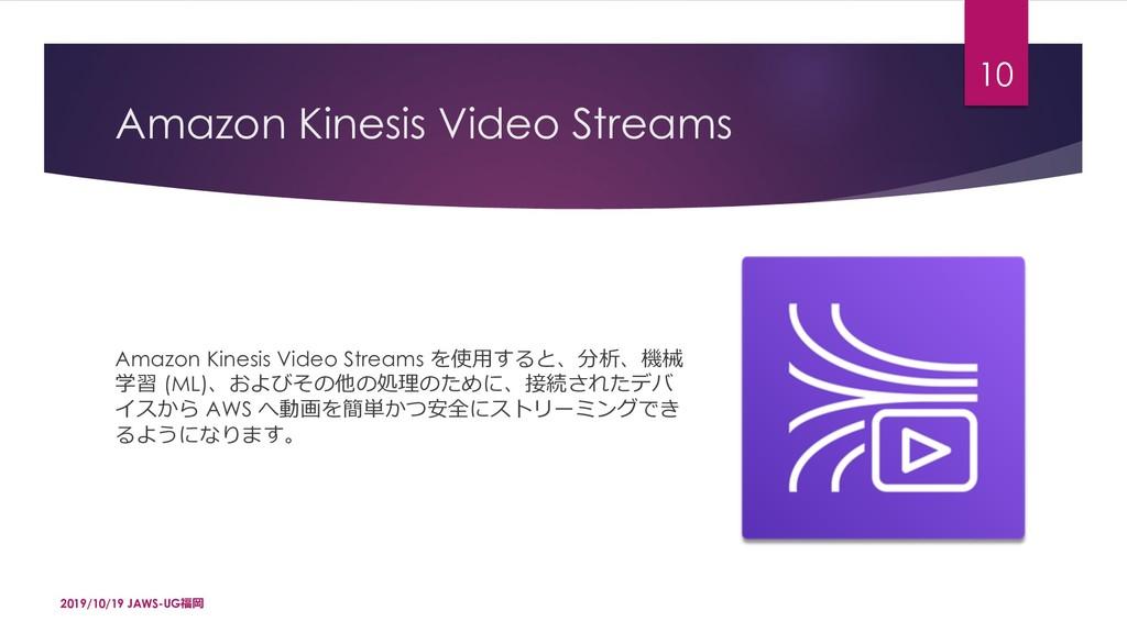 Amazon Kinesis Video Streams Amazon Kinesis Vid...