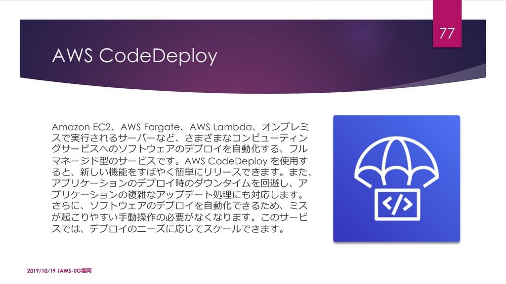 AWS CodeDeploy Amazon EC2AWS FargateAWS Lambd...