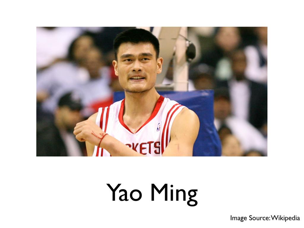 Yao Ming Image Source: Wikipedia