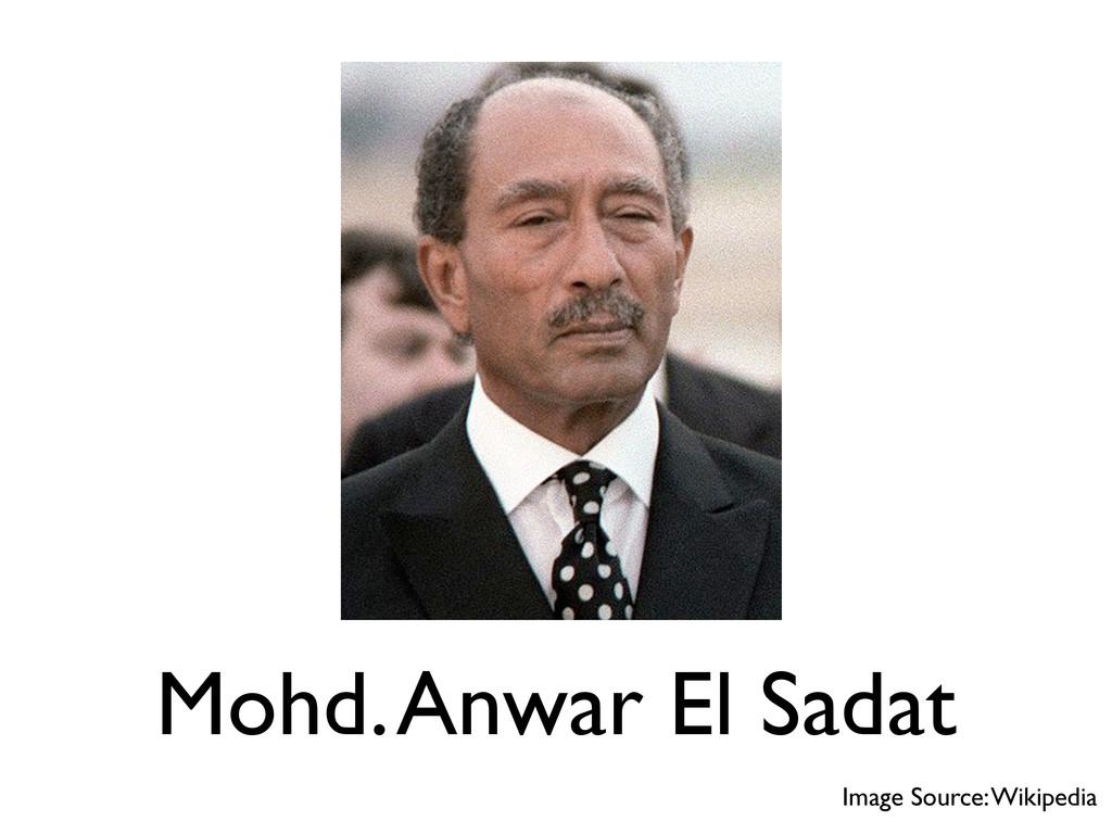 Mohd. Anwar El Sadat Image Source: Wikipedia