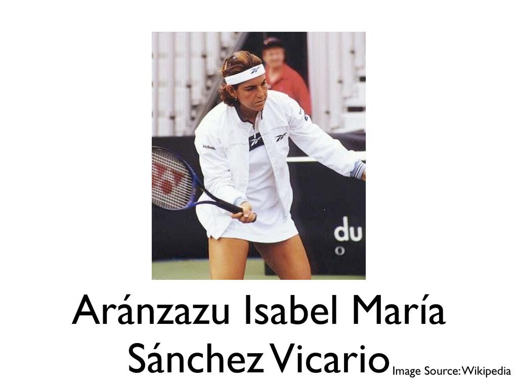 Aránzazu Isabel María Sánchez Vicario Image Sou...