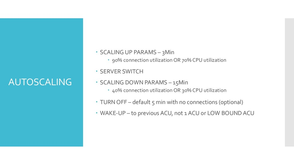 AUTOSCALING – SCALING UP PARAMS – 3Min – 90% co...