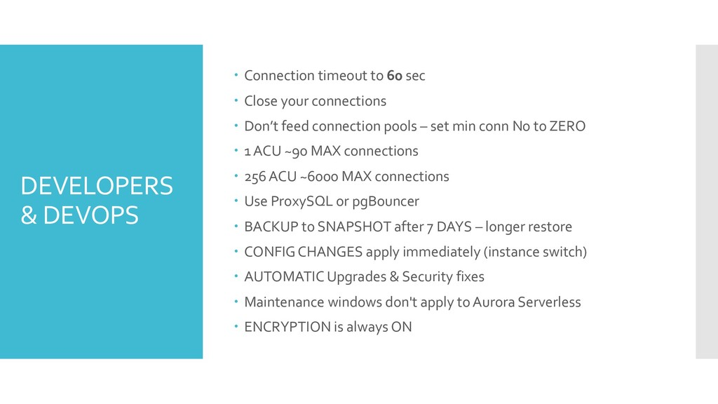 DEVELOPERS & DEVOPS – Connection timeout to 60 ...