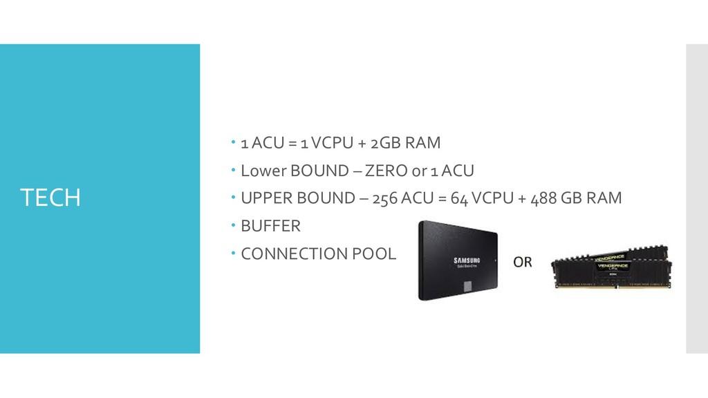 TECH – 1 ACU = 1 VCPU + 2GB RAM – Lower BOUND –...