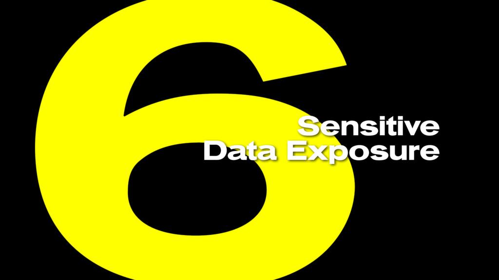 Sensitive Data Exposure