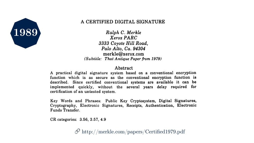 1989  http://merkle.com/papers/Certified1979.pdf