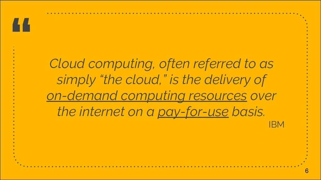 """"""" Cloud computing, often referred to as simply ..."""