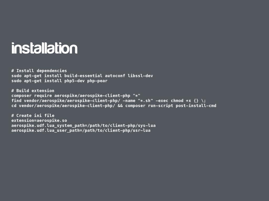 installation # Install dependencies sudo apt-ge...