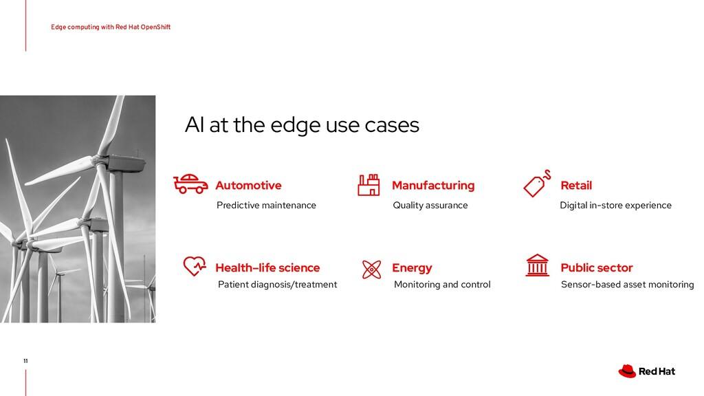 11 AI at the edge use cases Automotive Health–l...