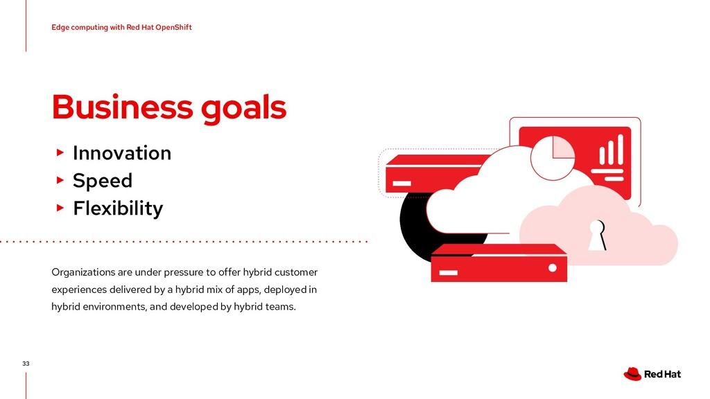 Business goals 33 ▸ Innovation ▸ Speed ▸ Flexib...