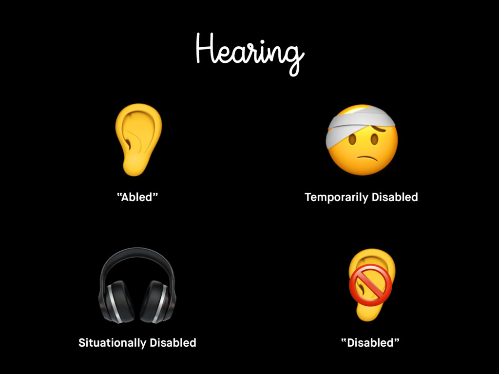 "Hearing ""Abled"" Temporarily Disabled Situationa..."
