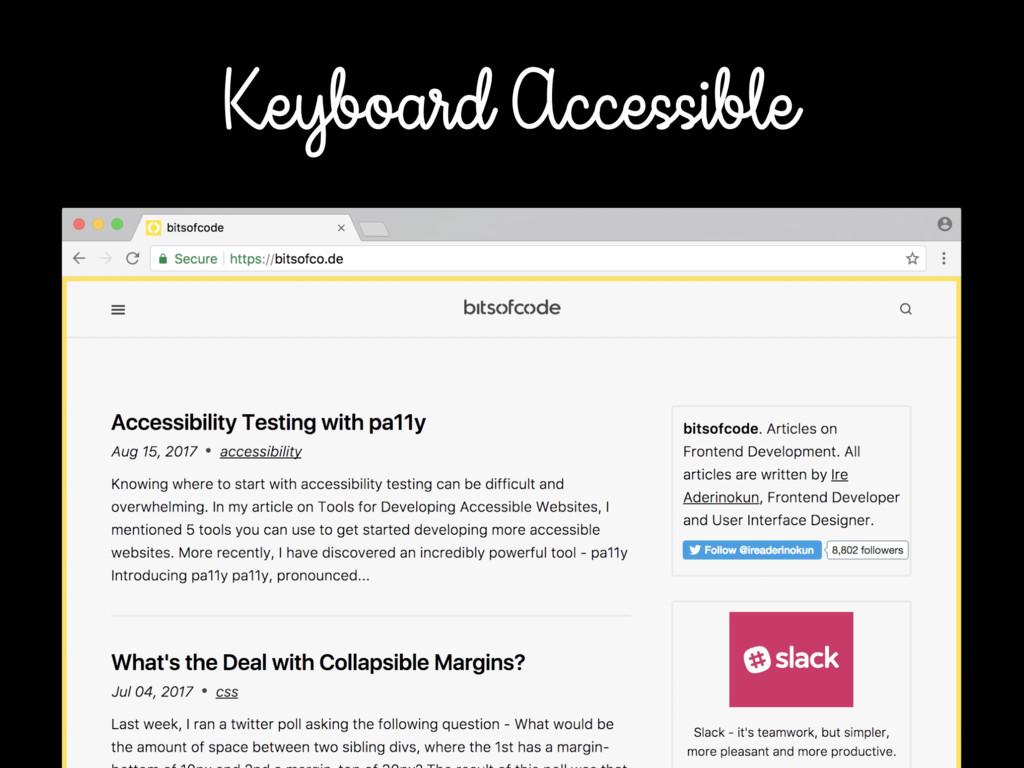 Keyboard Accessible