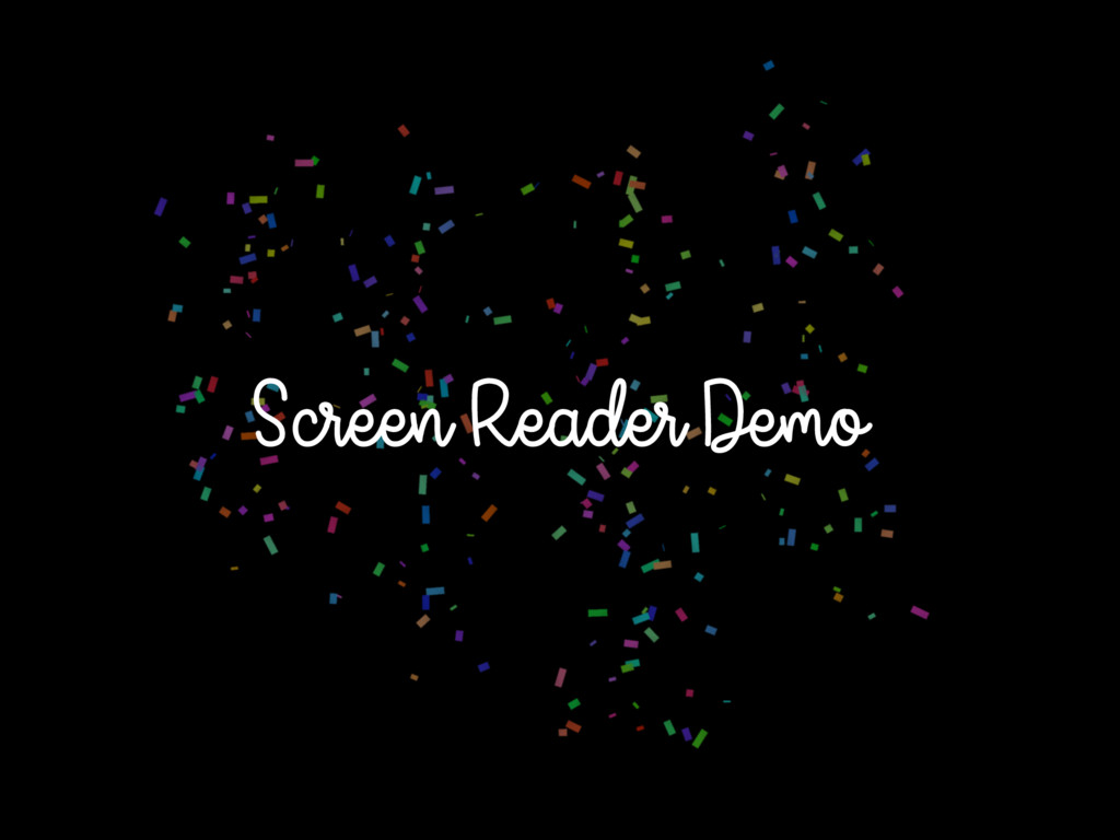 Screen Reader Demo