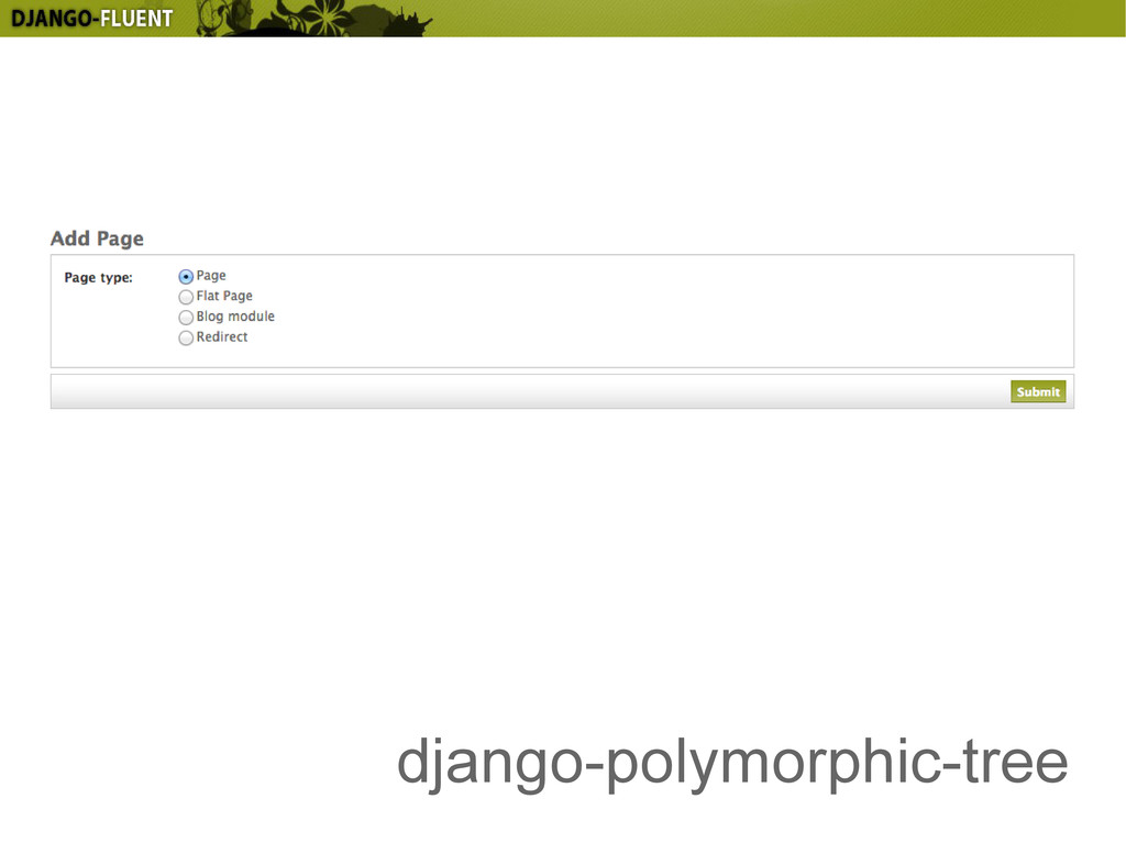 django-polymorphic-tree