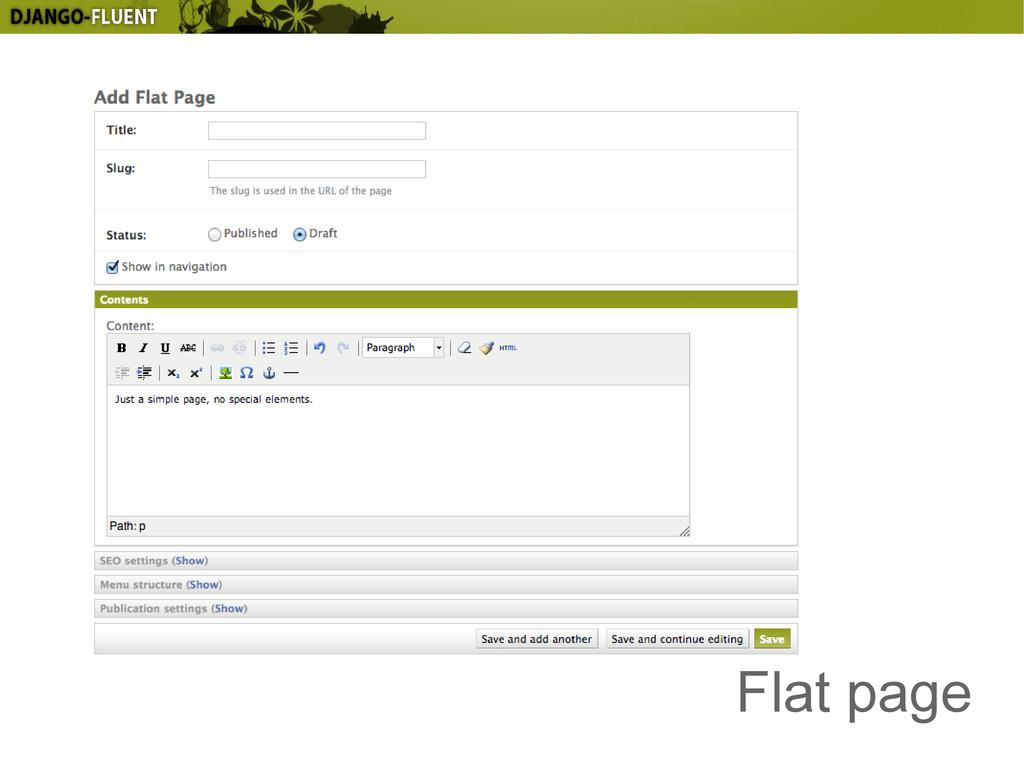 Flat page