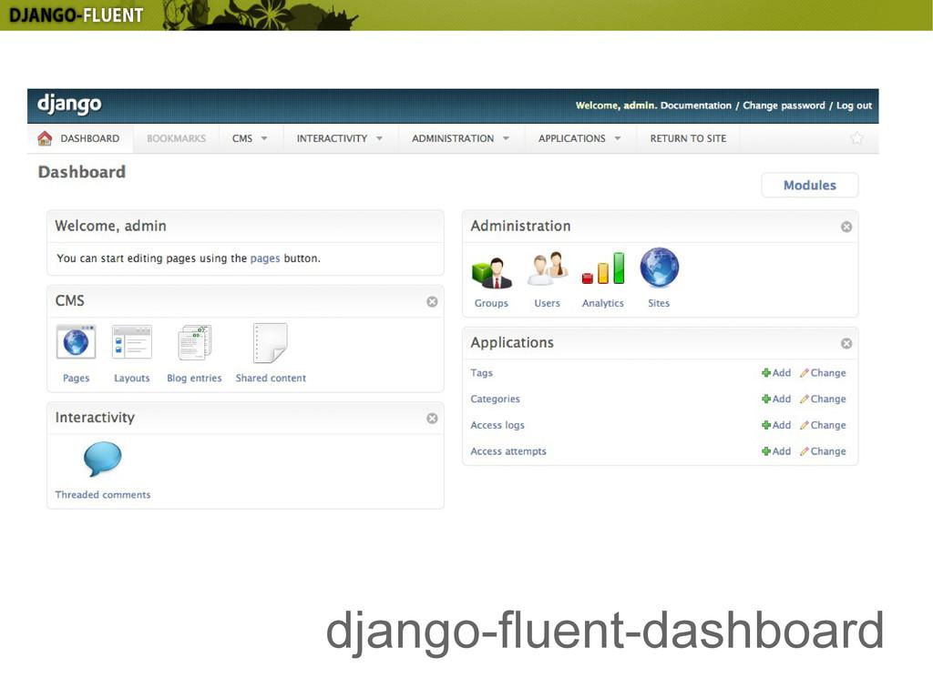 django-fluent-dashboard