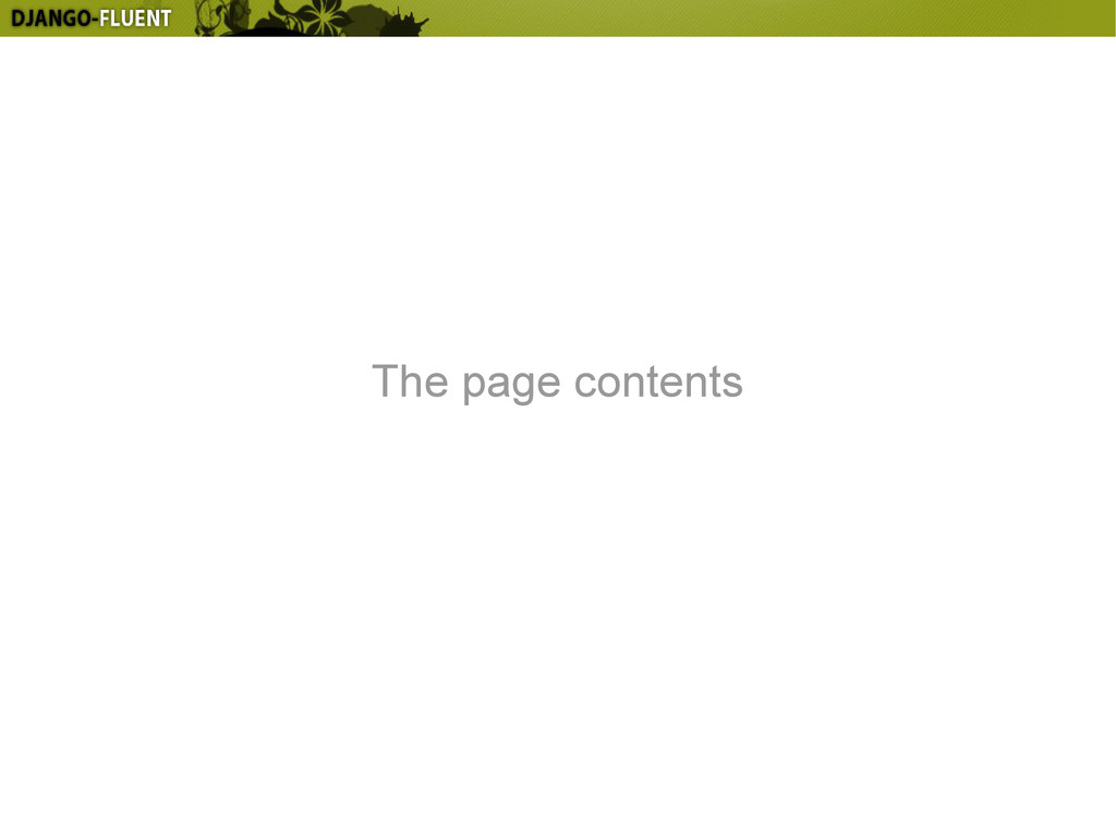 The page contents