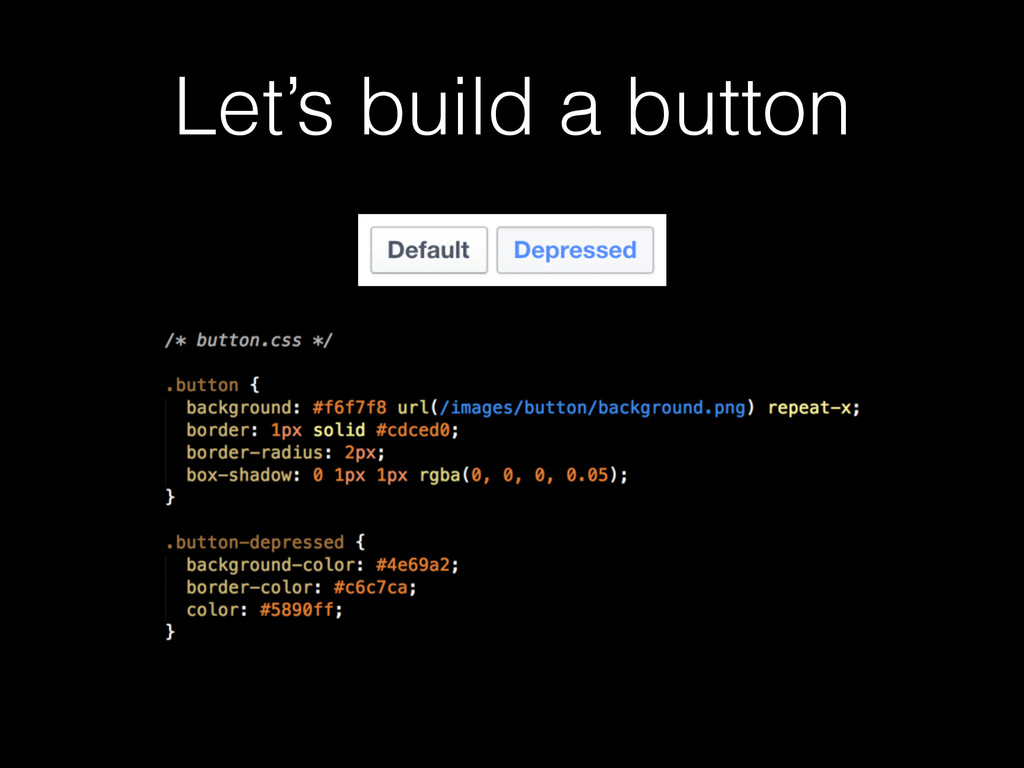Let's build a button