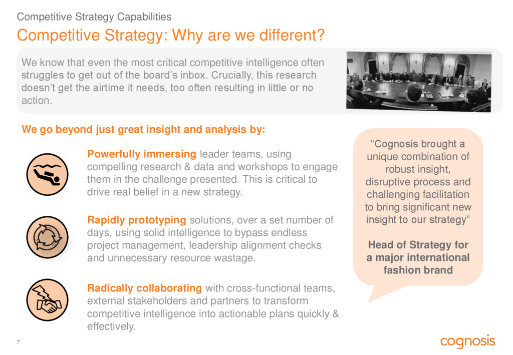 Competitive Strategy: Why are we different? Com...