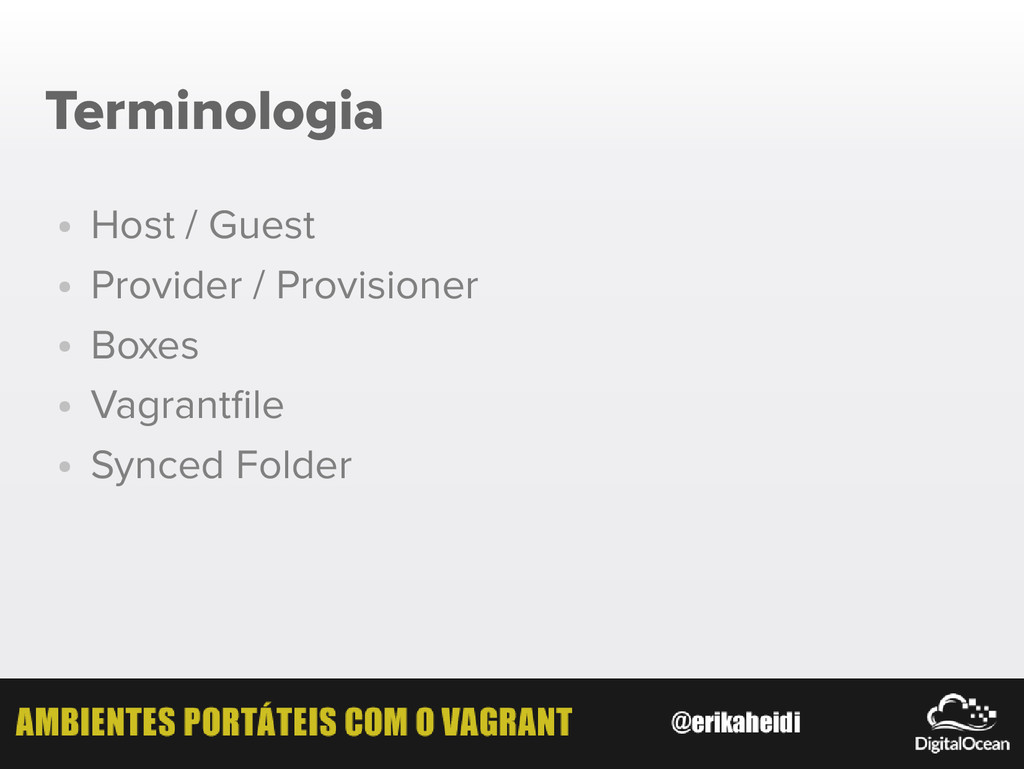 Terminologia ● Host / Guest ● Provider / Provis...